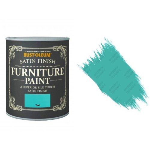 Rust-Oleum Teal Furniture Paint 125ml Shabby Chic Toy Safe Satin