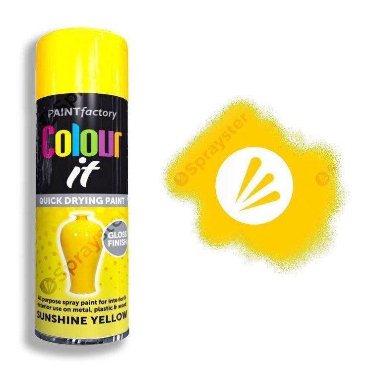Colour It Sunshine Yellow Spray Paint Gloss 250ml