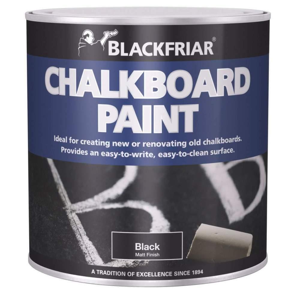 Blackfriar-Chalkboard-Blackboard-Paint-Easy-Write-Easy-Clean-Black-Matt-250ml-333085452636
