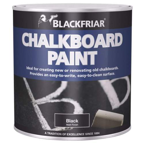 Blackfriar-Chalkboard-Blackboard-Paint-Easy-Write-Easy-Clean-Black-Matt-250ml-333085452636