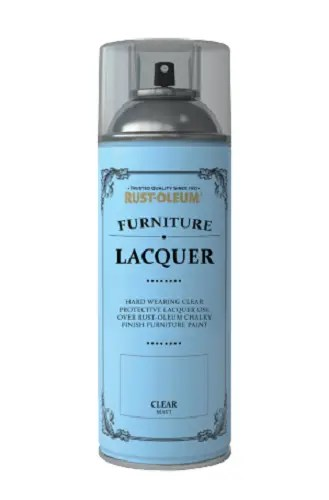 Rust-Oleum Chalky Clear Lacquer Spray Paint Matt Furniture 400ml