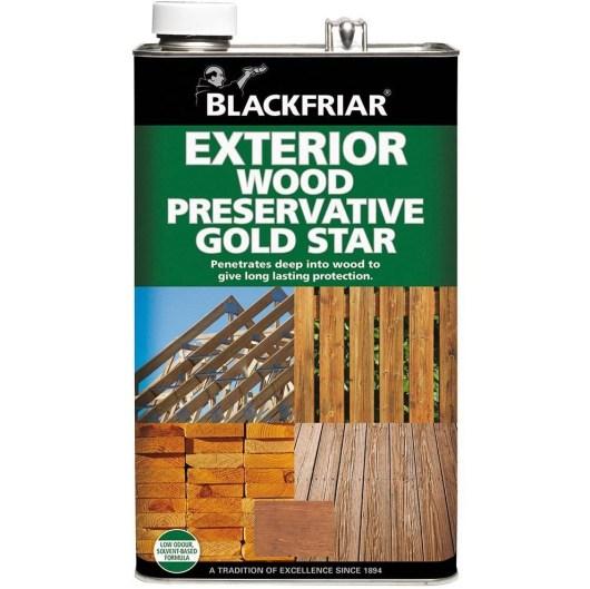 Blackfriar Golden Brown Exterior Wood Preserver Gold Star