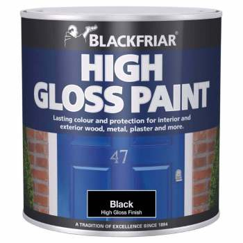 Blackfriar High Gloss Paint Black 250ml