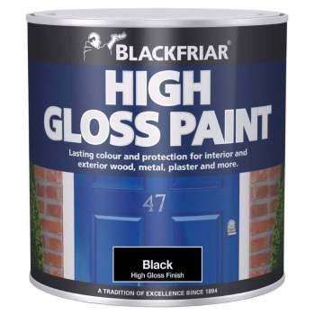 Blackfriar High Gloss Paint Black 250ml