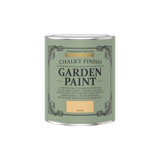 Rust-Oleum Chalky Garden Paint Mustard Matt 750ml