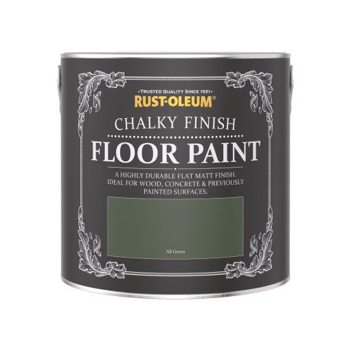 Rust-Oleum Chalky Floor Paint All Green Matt 2.5L