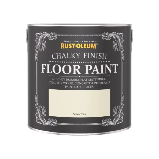 Rust-Oleum Chalky Floor Paint Antique White Matt 2.5L