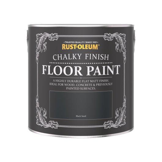 Rust-Oleum Chalky Floor Paint Black Sand Matt 2.5L