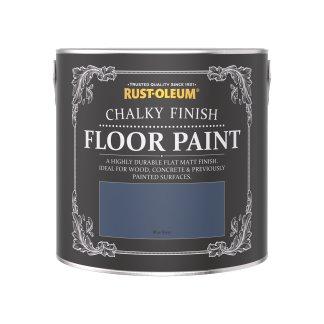 Rust-Oleum Chalky Floor Paint Blue River Matt 2.5L