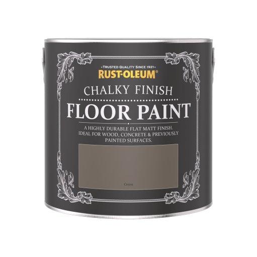 Rust-Oleum Chalky Floor Paint Cocoa Matt 2.5L