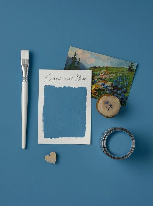 Rust-Oleum Chalky Floor Paint Cornflower Blue Matt 2.5L 2