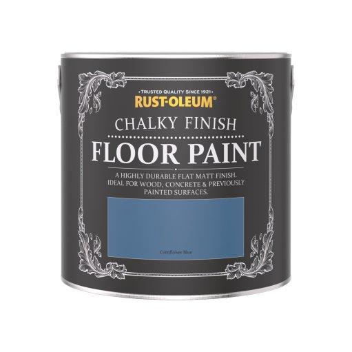 Rust-Oleum Chalky Floor Paint Cornflower Blue Matt 2.5L