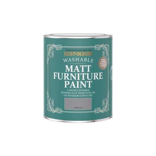 Rust-Oleum Matt Furniture Paint Anthracite 750ml
