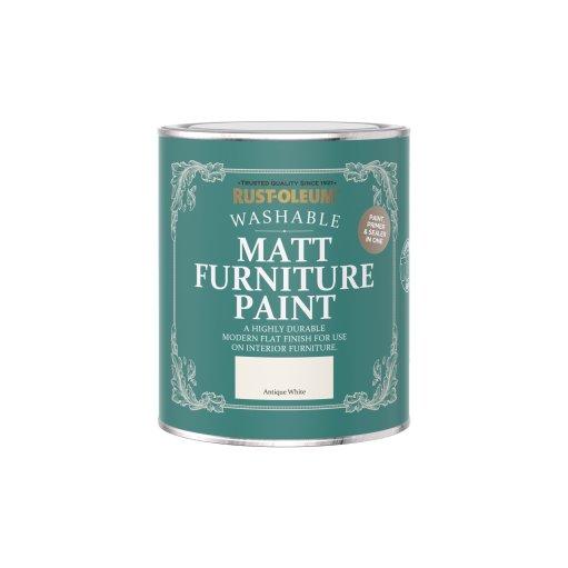 Rust-Oleum Matt Furniture Paint Antique White 750ml
