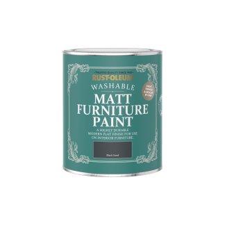 Rust-Oleum Matt Furniture Paint Black Sand 750ml