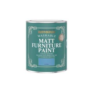 Rust-Oleum Matt Furniture Paint Cerulean 750ml