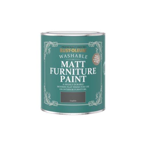Rust-Oleum Matt Furniture Paint Graphite 750ml