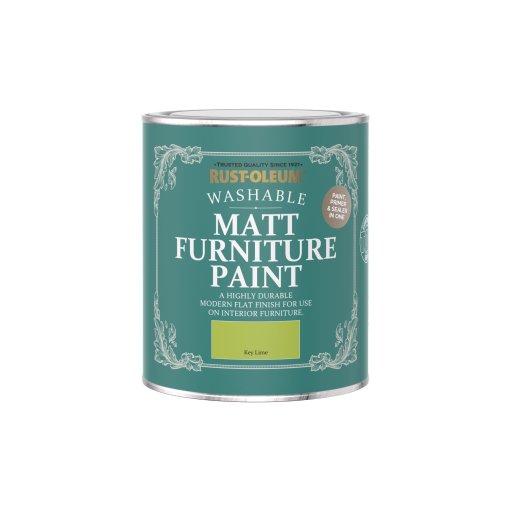 Rust-Oleum Matt Furniture Paint Key Lime 750ml