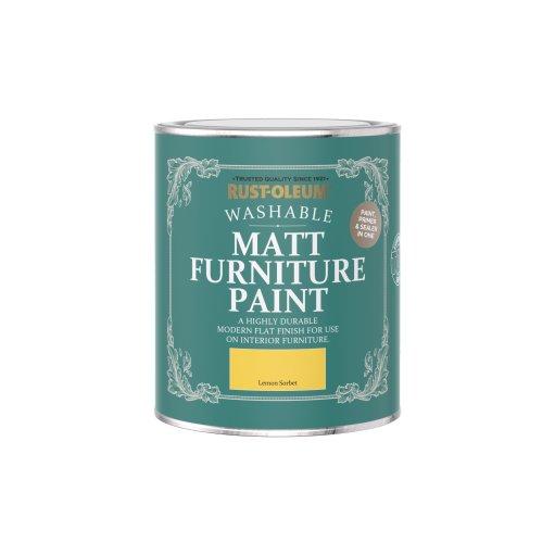 Rust-Oleum Matt Furniture Paint Lemon Sorbet 750ml