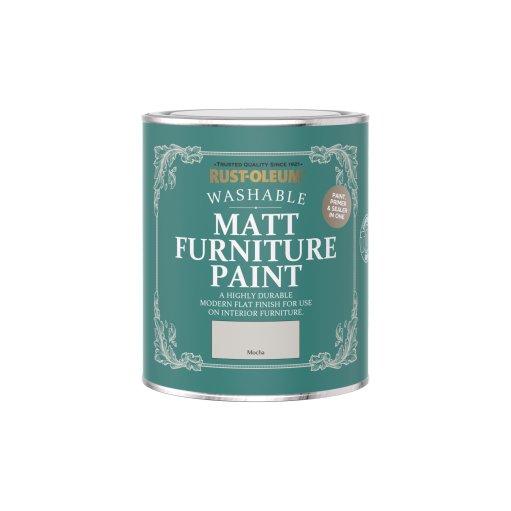 Rust-Oleum Matt Furniture Paint Mocha 750ml