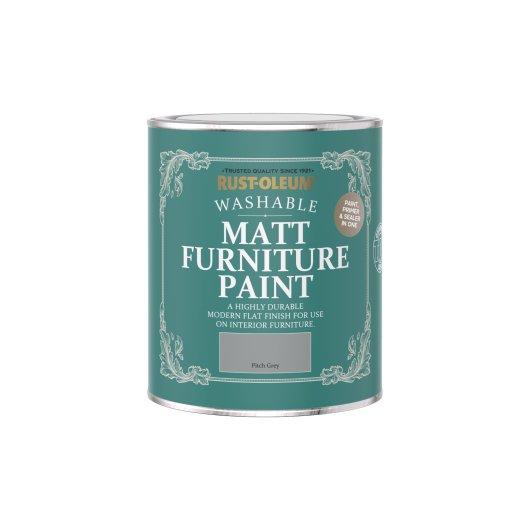 Rust-Oleum Matt Furniture Paint Pitch Grey 750ml