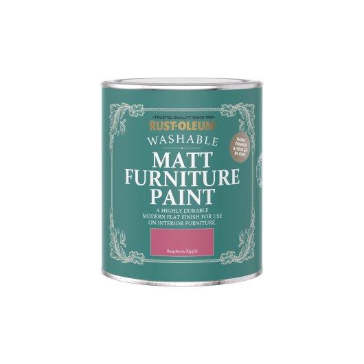 Rust-Oleum Matt Furniture Paint Raspberry Ripple 750ml