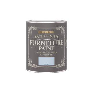 Rust-Oleum Satin Furniture Paint Blue Sky 750ml
