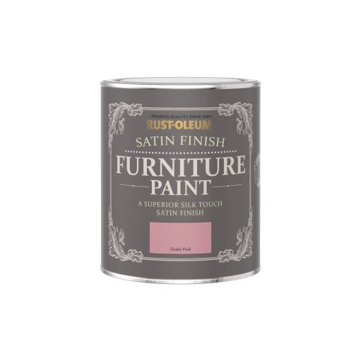 Rust-Oleum Satin Furniture Paint Dusky Pink 750ml