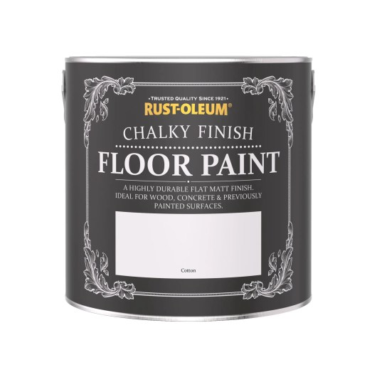 Rust-Oleum Chalky Floor Paint Cotton Matt 2.5L