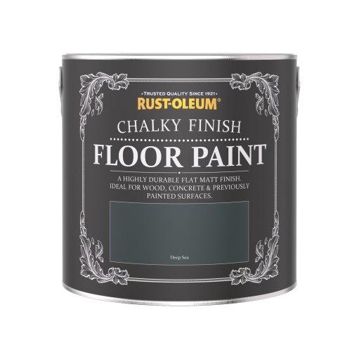 Rust-Oleum Chalky Floor Paint Deep Sea Matt 2.5L