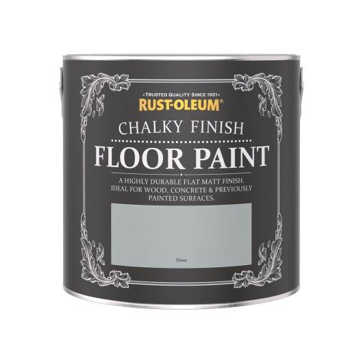 Rust-Oleum Chalky Floor Paint Dove Matt 2.5L