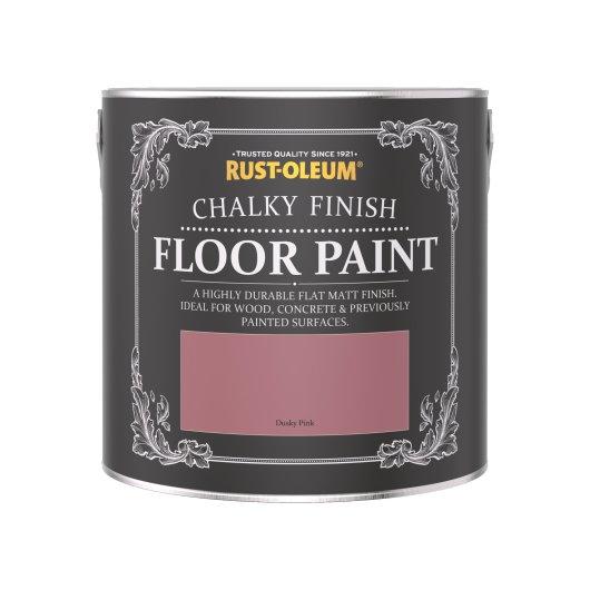 Rust-Oleum Chalky Floor Paint Dusky Pink Matt 2.5L