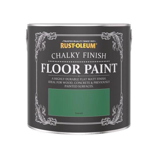 Rust-Oleum Chalky Floor Paint Emerald Matt 2.5L