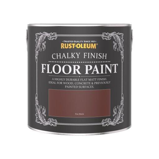 Rust-Oleum Chalky Floor Paint Fire Brick Matt 2.5L