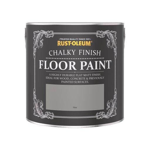 Rust-Oleum Chalky Floor Paint Flint Matt 2.5L