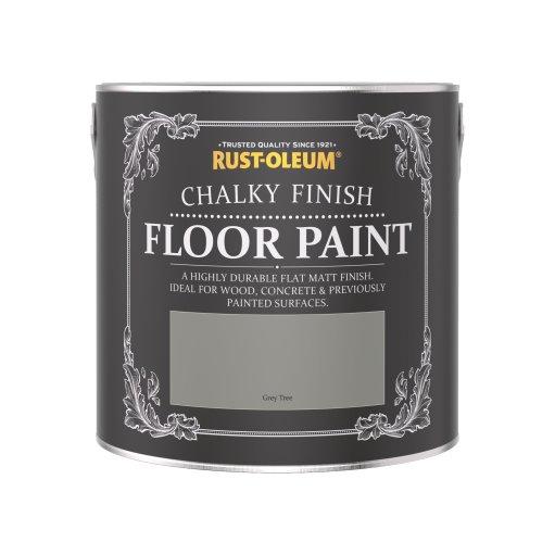 Rust-Oleum Chalky Floor Paint Grey Tree Matt 2.5L