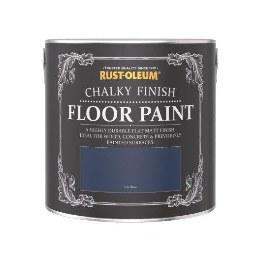 Rust-Oleum Chalky Floor Paint Ink Blue Matt 2.5L