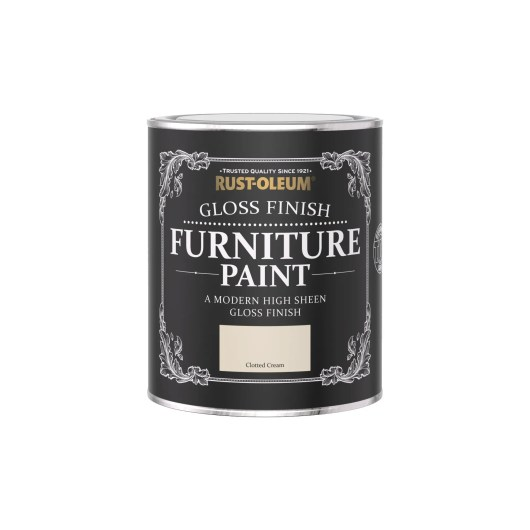 Rust-Oleum Gloss Furniture Paint Clotted Cream 750ml