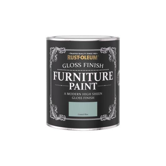 Rust-Oleum Gloss Furniture Paint Coastal Blue 750ml