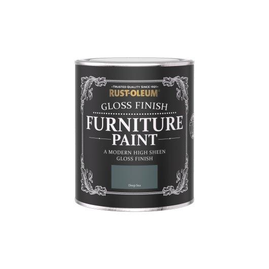 Rust-Oleum Gloss Furniture Paint Deep Sea 750ml