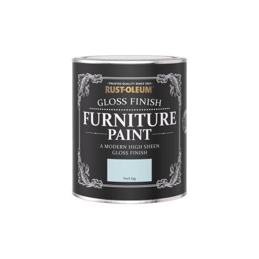 Rust-Oleum Gloss Furniture Paint Duck Egg 750ml