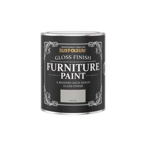 Rust-Oleum Gloss Furniture Paint Grey Tree 750ml