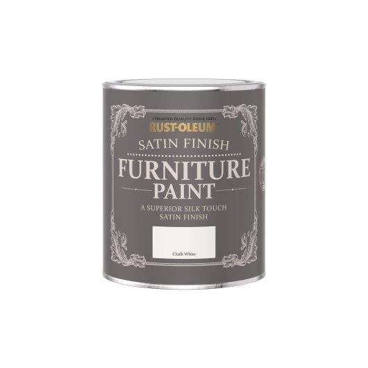 Rust-Oleum Satin Furniture Paint Chalk White 750ml
