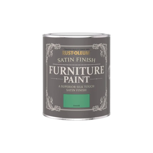 Rust-Oleum Satin Furniture Paint Emerald 750ml