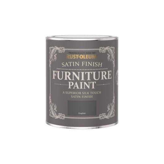 Rust-Oleum Satin Furniture Paint Graphite 750ml