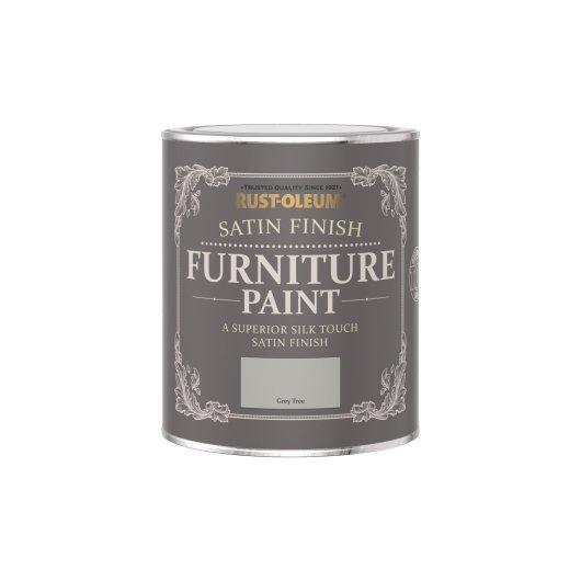 Rust-Oleum Satin Furniture Paint Grey Tree 750ml