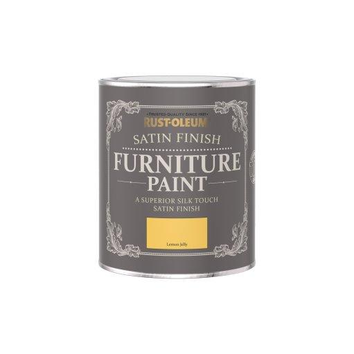 Rust-Oleum Satin Furniture Paint Lemon Jelly 750ml