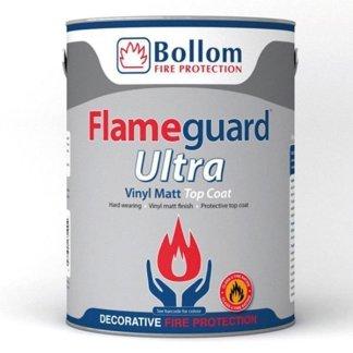Bollom-Flameguard-Ultra-Top-Coat-Vinyl-Matt-Fire-Resistant-Paint-White-5L-391986897657