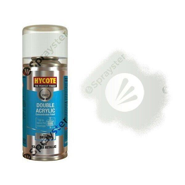 Hycote-Audi-Ice-Silver-Metallic-Spray-Paint-Enviro-Can-All-Purpose-XDAD504-392301654917