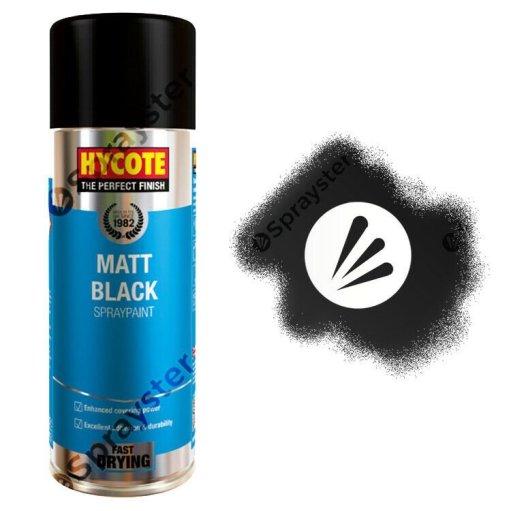 Hycote-Black-Matt-Spray-Paint-Aerosol-Auto-Car-Multi-Purpose-400ml-XUK027-372667293459